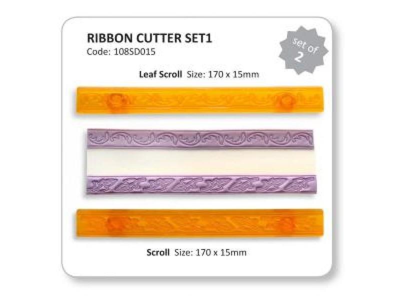 JEM Ribbon Cutter Set - Scroll & Leaf Scroll 2pc