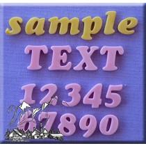 餅乾字母組Cookie Font 12mm AM0112