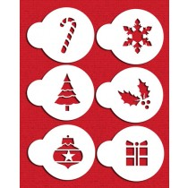 C073 Holiday Cupcake/Cookie Tops Stencils