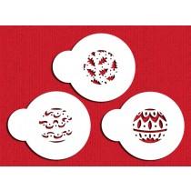 C244 Mini Christmas Balls Cupcake Stencil