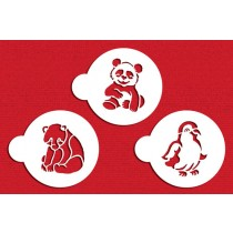 C783-Penguin, Panda and Polar Bear Cookie Set