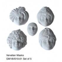Venetian Masks set of 5
