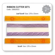JEM Ribbon Cutter Set - Scroll & Leaf Scroll 2pc