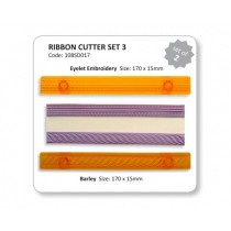 JEM Ribbon Cutter Set - Eyelet & Barley 2pc