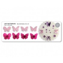 JEM Lacy Butterflies Cutter Set 4pc